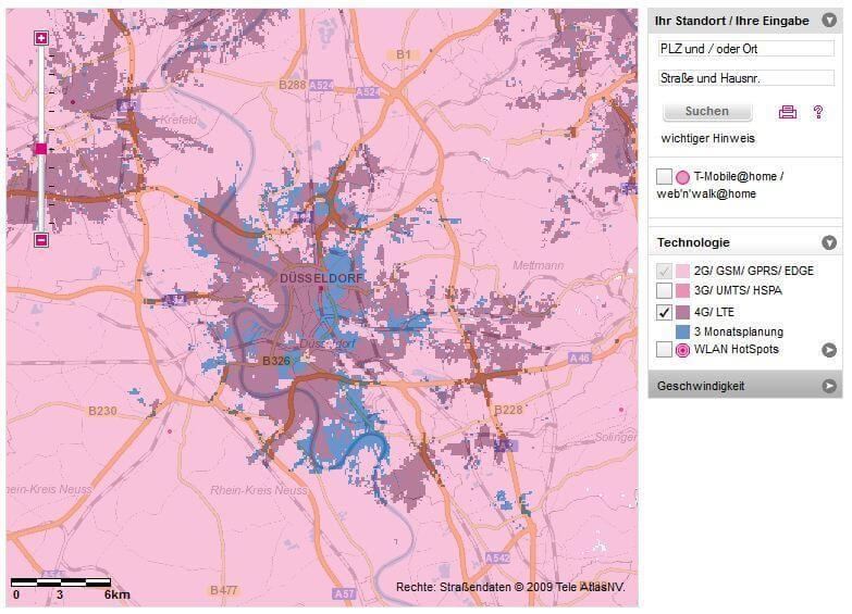 Telekom Dsl Verfügbarkeit Karte.Deutsche Telekom Karte Für Die Lte Verfügbarkeit Nun Online 4g De
