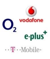 Vier Netzbetreiber Logos