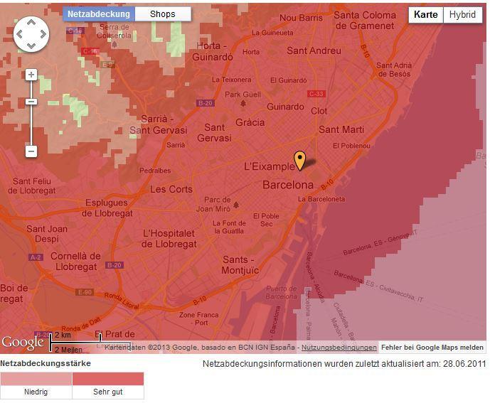 Netzabdeckung-Barcelona-Vodafone