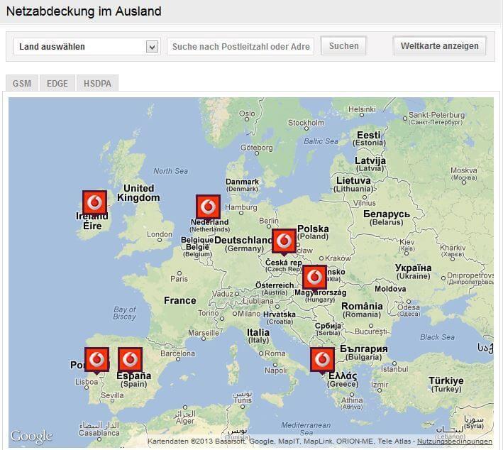 Netzabdeckung-Europa-Vodafone