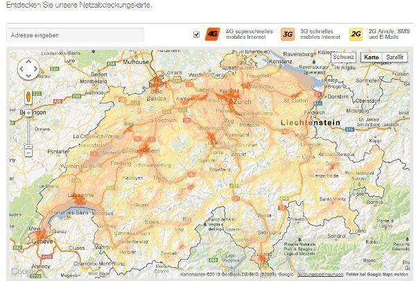 LTE-Karte von Orange