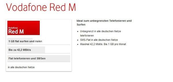 Vodafone bessert bei seinem Tarif RED M nach (Bildquelle: Vodafone)