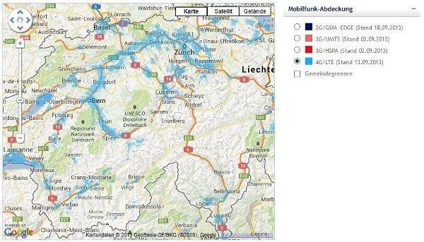 Swisscom versorgte mittlerweile 60 Prozent der Schweizer Bevölkerung mit LTE (Quelle: Swisscom)