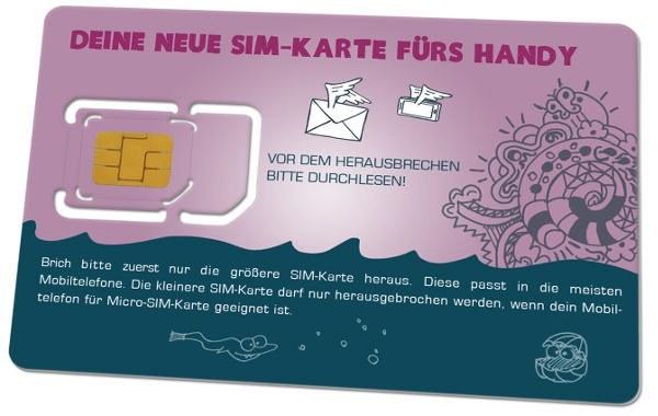 SIM-Karte für die ALLNET-Flat im yourfone-Netz (Bildquelle: yourfone.de)