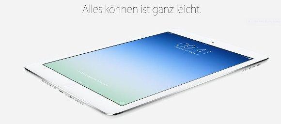 Das neuen iPad Air (Quelle: Apple)