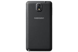 Das Galaxy Note 3 mit einer Kunstlederoptik auf der Rückseite (Quelle: Samsung)