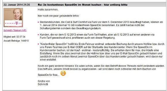 Das Team von Telekom hilft gibt neue Details zu SpeedOn bekannt (Quelle: Telekom)