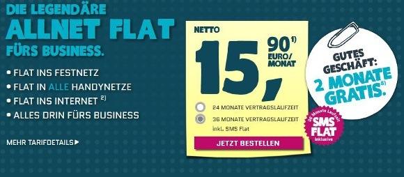 Die E-Plus-Tochter yourfone bietet nun auch einen Allnet-Flat für Geschäftskunden (Quelle: yourfone)