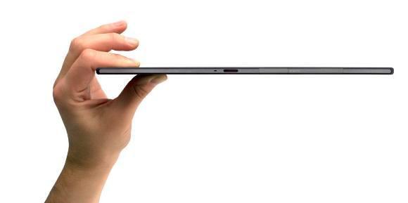 Das Sony Xperia Z2 Tablet ist nur 6,4 mm dünne (Quelle: Sony)