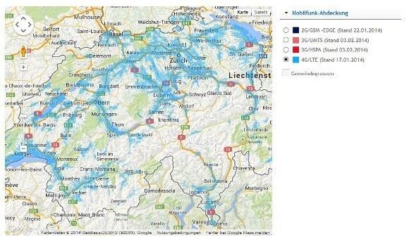 Swisscom baut sein LTE-Netz immer weiter aus (Quelle: Swisscom)