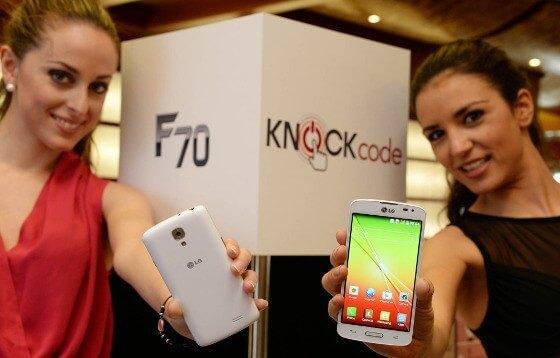 LG präsentiert sein F70 auf dem Mobile World Congress 2014 (Quelle: LG)