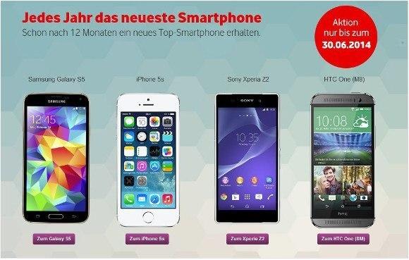 Jedes Jahr ein neues Smartphone mit Vodafone NextPhone (Quelle: Vodafone)