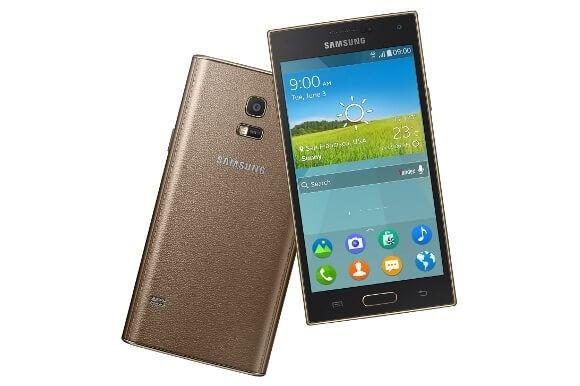 Das Samsung Z in Gold und mit Kunstleder auf der Rückseite (Bildquelle: Samsung)