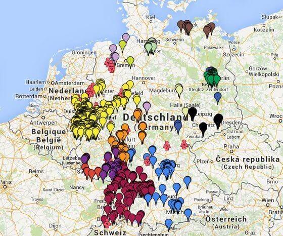 funkmasten karte Karte bei Google Maps zeigt LTE von E Plus | 4G.de