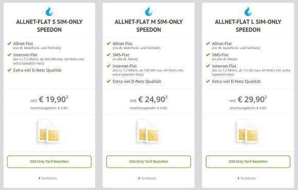 Die neue Allnet-Flat SIM-Only bei Sparhandy im Netz der Deutschen Telekom (Bildquelle: Sparhandy.de)