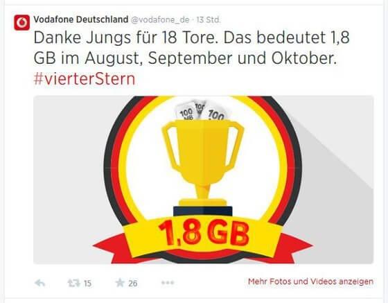 Die WM-Aktion von Vodafone läuft noch bis zum 20. Juli (Quelle: Twitter)
