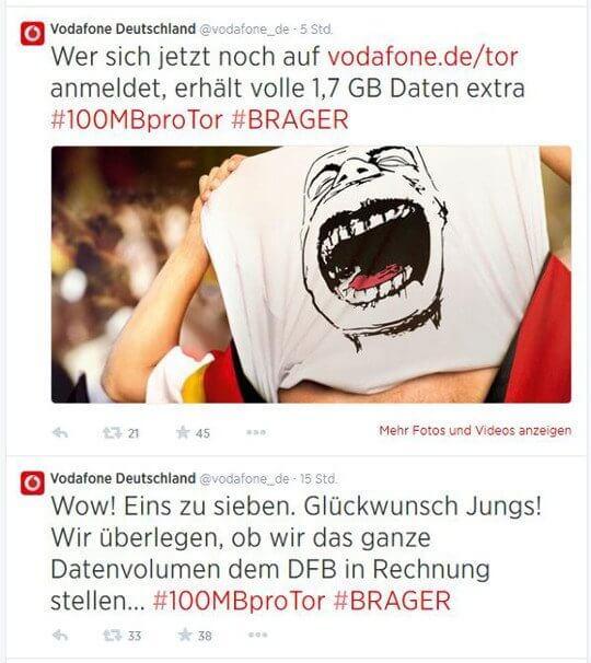 WM-Aktion Vodafone