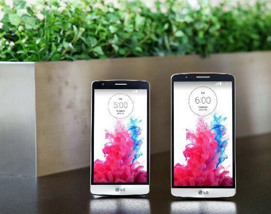 """Das LG G3 """"s"""" und LG G3 im Vergleich (Bildquelle: LG G3)"""