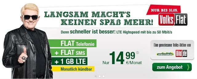 Die Volks-Flat für 14,99 Euro. Heino hat die Allnet-Flat bereits gebucht (Bildquelle: smartmobil)