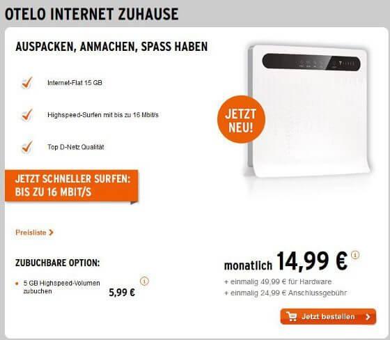 otelo Internet Zuhause