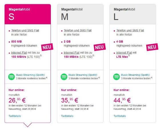 Die überarbeiteten Magenta Mobil Tarife der Telekom (Bildquelle: Deutsche Telekom)