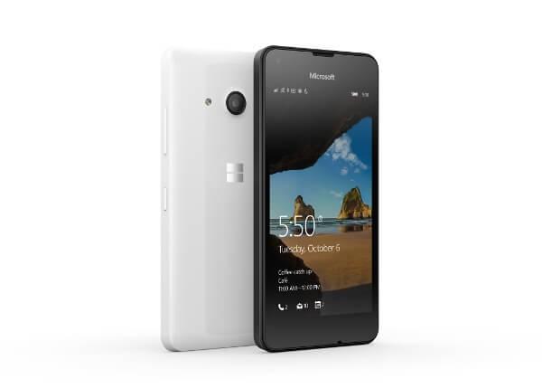 Das Lumia 550 in Schwarz und Weiß für 139 Euro (Bildquelle: Microsoft)