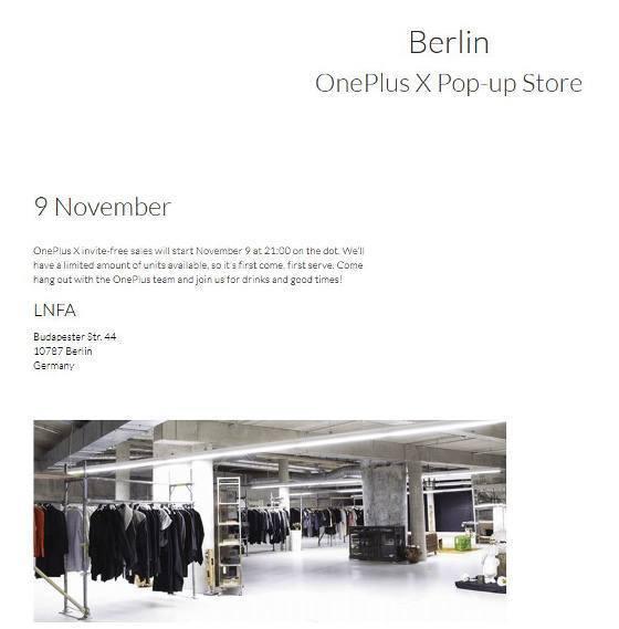Das OnePlus X gibt es heute in Berlin ab 21 Uhr im freien Verkauf (Bildquelle: OnePlus)
