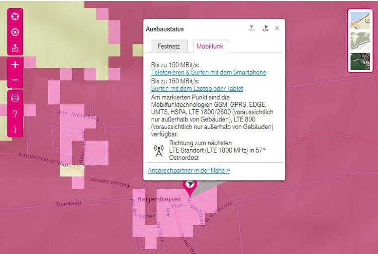 Telekom Lte Netzabdeckung Karte.Die Lte Karte Der Deutschen Telekom Im Check 4g De