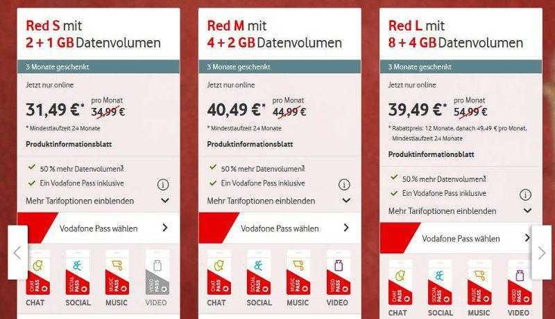 Vodafone Pass Bestandskunden