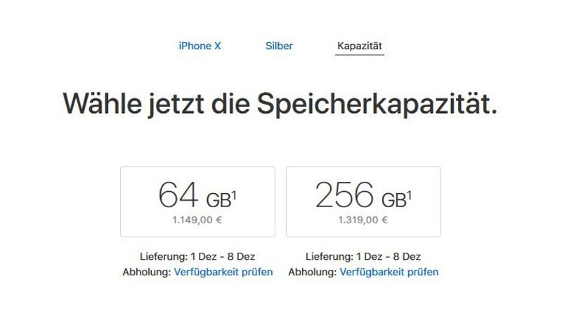 iphonex-lieferzeit