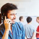Smartphone-Telefonat