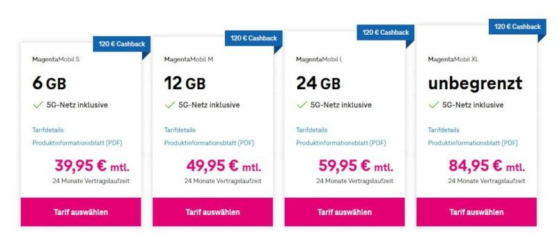 5G-Tarife Telekom